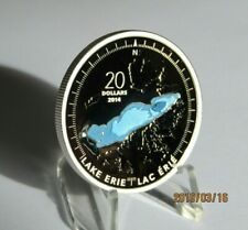 2014 Great Lake Erie  Canada  1 oz 9999 pure $20 Canadian Coin + COA In Airtite