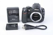 GOOD NIKON D5000 12.3MP DSLR BODY ONLY w/BATT+ CHARGER 233K ACTS, WORKS GREAT
