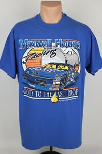 Vintage Sterling Martin Maxwell House Racing Single Stitch Graphic T Shirt USA