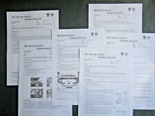 ROVER MGF - RARE UK TECHNICAL BULLETIN  2001 guides x6