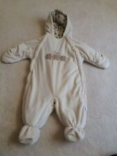 Infant size 6-9 months bon Bebe soft snowsuit boys girls puppies beige