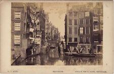 AmsterdamO. Z. KolkPays-Bas Hollande Photo A. Jager Vintage albumine ca 1880