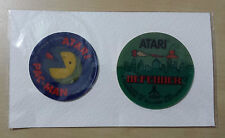 ATARI DEFENDER & PAC-MAN / 2 VINTAGE 3D EFFECT STICKERS / 1982