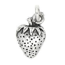 Sterling Silver Fruit of Spirit Strawberry Charm - Faithfulness
