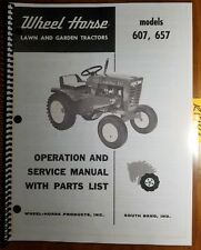Wheel Horse 607 657 Lawn & Garden Tractor Owner Operator Service & Parts Manual