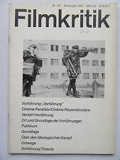 Critique NR 191, novembre 1972, visionné