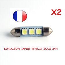 2 AMPOULE NAVETTE LED 3 SMD C5W 39mm PLAFONNIER PLAQUE D'IMMATRICULATION