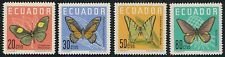 Ecuador 676/79 1961 Mariposas butterfly MH