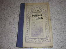 1937.apprenons l'arabe / Barthélémy Sans.arabe parlé au Maroc