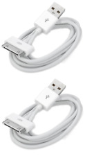 2x 30-Pin To USB Charge Sync Cable Charger for Apple iPhone 3G 4 4s ipod Ipad