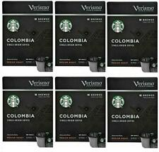 72 Count Verismo by Starbucks Colombia Brewed Coffee Single Use Pods BB 12/2019