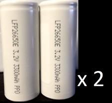 "Brand New ""4""  LFP26650E LiFePO4 26650 3.2V 3300mAh Rechargeable Battery"