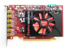 AMD FirePro W600 2GB GDDR5 6 MiniDP PCI-E Video Graphics Card 100-505968