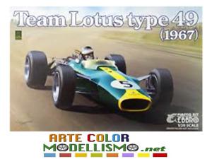 EBBRO ITEM 20004  TEAM LOTUS TYPE 49 1967 GP F1 1/20 SCALE MODEL KIT
