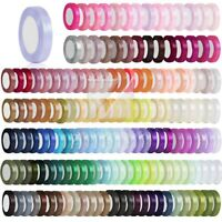 "1"" 25mm Satin Ribbon Craft  Wedding Party Supplies Non-Double Sided RN0006"