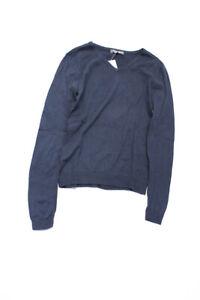 Bonpoint Boys Cotton Long Sleeve Crew Neck Sweater Blue Size 10