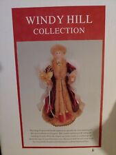 """Windy Hill Collection 16"""" Inch Standing Burgundy Christmas Angel Figurine N.I.B."""