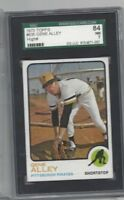1973 Topps baseball card #635 Gene Alley Pittsburgh Pirates graded SGC 84 NM 7