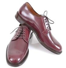 NEW GUCCI MEN'S 295618 BURGUNDY RED LEATHER OXFORD DRESS SHOES 12 G 13 U.S.