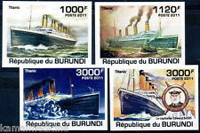BURUNDI 2011 Imperf 4v, Titanic, Ships and Boats (S1)