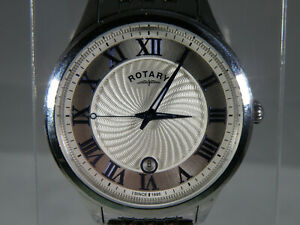 MENS ROTARY QUARTZ DRESS WATCH - VERY GOOD COND. - BOXED - PLEASE READ