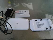 ZTE Velocity MF923 4G LTE Mobile Hotspot AT&T White- Very Good Working