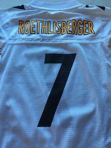YOUTH BEN ROETHLISBERGER #7 PITTSBURGH STEELERS WHITE REEBOK JERSEY FREE SHIP