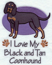 I Love My Black and Tan Coonhound Dog Set Of 2 Hand Towels Embroidered