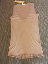LADIES BROWN LONG POLYCOTTON SLEEVELESS TOP BY RIVERS - SIZE M - AUS 12/14 NWT