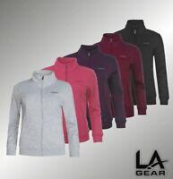 Ladies LA Gear Funnel Neck Long Sleeved Full Zip Fleece Jacket Sizes 6-22