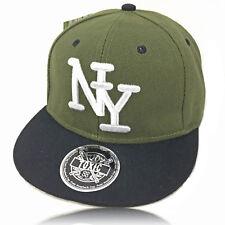 Kinder Cap olive NY 2Tone Snapback Caps Basecap Kappe Baseball Mütze NY