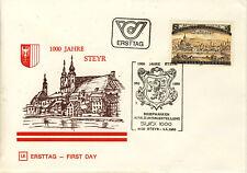 Ersttagsbrief Österreich MiNr. 1645, 1000 Jahre Stadt Steyr
