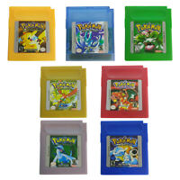 Pokemon Game Card Classic Game Cards Carts Color Version For Pokemon GB GBC Game