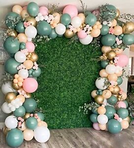 Balloon Arch, 126PCS Sage Olive Green Pink Blush White, Artificial Vines, Party
