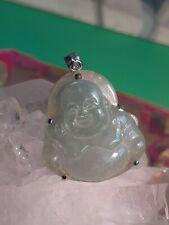 Silver 925 Jade Pendant Buddha Symbol of purity and serenity