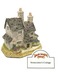 David Winter Cottages Stonecutter's Cottage February British Traditions Coa Box