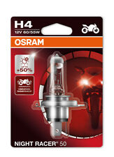 New! Osram H4 Night Racer 50 Motorbike Headlight Bulb +50% Brighter 64193NR5-01B