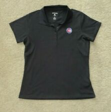 Women's Ladies Chicago Cubs MLB Baseball Antigua Polo Shirt Size M Dark Gray