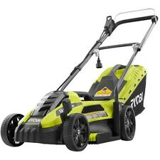 Push Lawn Mower 13 Inch Corded Electric 12 Gauge Walk Behind Wheels Lightweight