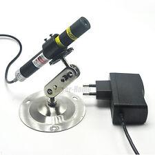 Focusable 405nm 120mw Cross Blue/Violet Laser Diode Module w/5V Adapter & Holder