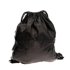 RRP €570 MCQ ALEXANDER McQUEEN Leather Backpack Crumpled Slouchy Drawstring