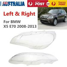 One Pair of Headlight Lens Lamp Cover Lampshade Fit for BMW 2008-2013 X5 E70 AU
