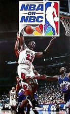 1997  Michael Jordan on NBC Chicago Bulls Original Starline Poster OOP