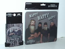 2 Lot Duck Dynasty Bottle/Can Coolie Koozie+Happy! Happy! Happy! Mouse Pad Gifts
