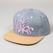 King Kids Warriors Starter Grey Blue Tweed Tan Strapback Youth Hat Cap