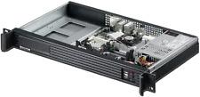"1U ITX (3.5"" Open Bay)OR(2x2.5HDD)(Rackmount Chassis)(2x4cm Fan)D:9.84"" Case NEW"