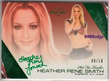 2011 BENCHWARMER HOT FOR TEACHER AUTO: HEATHER RENE SMITH #9/10 GREEN AUTOGRAPH
