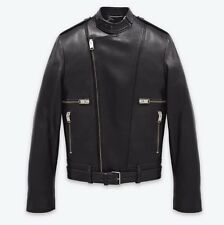 Saint Laurent Paris Leather Biker Jacket 52 L w/ Receipt! Hedi Slimane