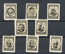 NEDERLAND 1937 ca   8 x  FOTO STAMPS  MOTOR RACES    THICK PAPER NO GUM MOST  VF