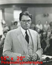 "To Kill A Mockingbird~Gregory Peck~Racism~Attorney~Poster~Photo~ 16"" x  20"""